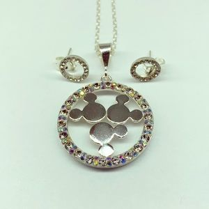 Disney Mickey Mouse inspired necklace and studs